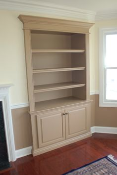 Custom Wall Unit Bookcases recessed into wall