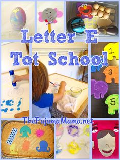 Montessori Inspired Tot School: Letter E   #toddler #activities #ideas (ThePajamaMama.net)