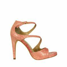 Diane Von Furstenberg Women's Jujette Snake Print Sandals - Rosa Antico...x