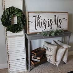 Shop our handcrafted, custom-made This Is Us extra large framed wood sign by Sanity Crafts Boutique. You customize it, we create it! Together we'll bring warmth and coziness to your home decor.