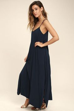 Wondering what to wear on vacation? Shop pretty and affordable vacation dresses for resort wear right here. Blue Maxi, Bodice, Neckline, Grandparents Day, Dressy Dresses, Vacation Dresses, Crochet Trim, What To Wear, Cold Shoulder Dress