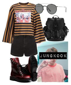 """Jeon JungKook Inspired Outfits #2"" by flaviaazevedo2000 ❤ liked on Polyvore featuring Topshop, Givenchy, Ray-Ban, kpop, bts, jungkook and bias"