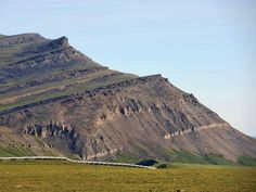 'Shale Adventure' on Alaska's North Slope - TAPS at Slope Mountain, upper Torok and lower Nanushuk formations in background. Photos courtesy of David Houseknecht