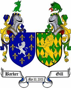 Double / Husband and Wife Coat of Arms