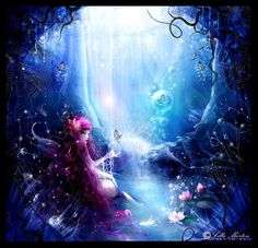 imagenes arte digital - fairy tells Fairy Paintings, Nature Paintings, Water Fairy Costume, Fairy Photoshoot, Witch Pictures, Fairies Photos, My Fantasy World, Beautiful Fairies, Guardian Angels