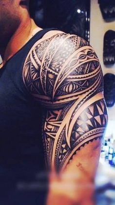 Tribal tattoo for muscular arms. Click on the pic for more tattoos