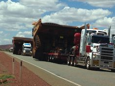 Over-Size load traveling on the Great Northern highway, Western Australia.