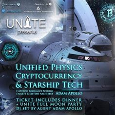 #Vancouver BC: Come join me for this talk on #UnifiedPhysics #Cryptocurrency & #Starship Tech on March 3rd at 3:33pm PST! The salon will be followed by dinner and dancing with a special DJ set prepared just for you... Cant make it in person? Ill also be streaming the talk portion online in the Guardian Alliance. Tickets are donation based... Link in my IG profile. ::: Join Adam Apollo Systems Architect and Faculty of the Resonance Science Foundation and Academy in this deep dive into the…