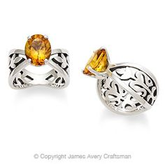 Adorned Floral Ring with Citrine from James Avery