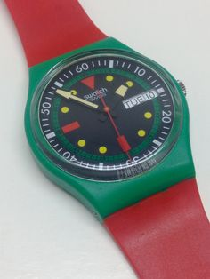 Vintage Swatch Watch Emerald Diver GG703 1986 by ThatIsSoFunny on Etsy