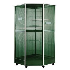 """All Parrot Products Parrot -Bird Food- Parrot Cages - Large Corner Aviary 52""""x42""""x74"""", $349.00 (http://www.allparrotproducts.com/large-corner-aviary-52x42x74/)"""