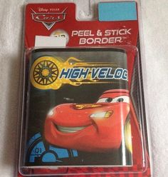 Disney Cars HIGH VELOCITY 3d Peel & Stick Border by Disney. $9.99. Features LIGHTNING McQUEEN, MATER, and FINN McMISSLE. Removable and Repositionable. Great for kids' bedrooms!