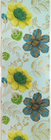 Still trying to talk the big girl into wallpaper - this is Designers Guild Amalienborg wallpaper in celadon
