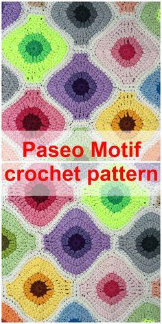 """Paseo Crochet Motif by Atty""""s Cozy Blankets, Crochet Blankets, Crochet Blanket Patterns, Crochet Motif, Crochet Yarn, Afghan Blanket, Photo Tutorial, Cute Crochet, Digital Pattern"""