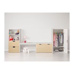 STUVA Storage combination with bench IKEA Low storage makes it easier for children to reach and organise their things.