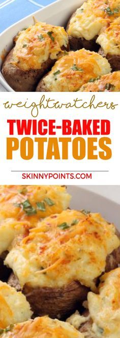 Weight Watchers Recipes with Smartpoints - Dinner, Chichen and Desserts.Weight Watchers Recipes with Smartpoints - Dinner, Chichen and Desserts. Get the best ideas of dinners, lunches and desserts - weight watchers recipes with low Sm Best Potato Recipes, Yummy Recipes, Skinny Recipes, Diet Recipes, Healthy Recipes, Diet Tips, Healthy Meals, Diet Ideas, Healthy Food