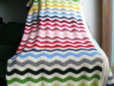 Manta ondas mil colores por Priscilasstore en Etsy, €105.00