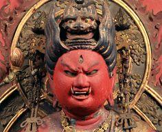 Fudō myōō & Co - Religion-in-Japan Religion In Japan, Japanese Buddhism, Satyr, Buddhist Art, Deities, Christianity, Sculpture, Painting, Caves