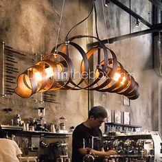 MAISHANG® Retro Bar Iron Lamp Modern Minimalist Industrial Style Chandelier - USD $132.99