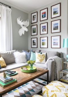 Living Room and Gallery Wall via Inspired by Charm's Spring Home Tour