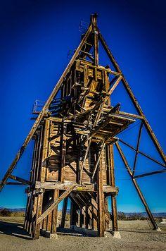 A-frame Mine Derrick - Randsburg, CA, USA