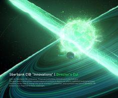 "Sberbank CIB ""Innovations"" on Behance Corporate Profile, Financial Institutions, Motion Design, Art Direction, Innovation, Northern Lights, Digital Art, Behance, Waves"