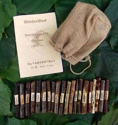 "Celtic Ogham Set by WytchenWood - ""...The ogham is a Celtic alphabet and divination system that is based on 20 native British trees. It is a system used in much the same way as runes but is less commonly used outside of the British Isles..."""