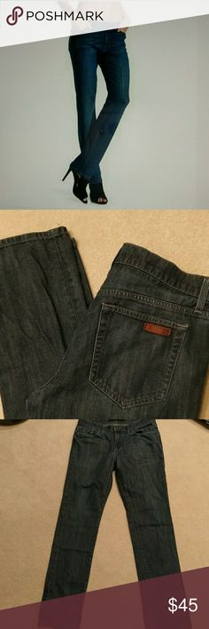 Like new Joe's jeans W 30, inseam 31 inches. Darker blue skinny Brixton fit. Like new, only worn a couple of times. Joe's Jeans Jeans Straight Leg