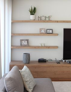 Living Room Wall Shelf Custom Living Room  Beautiful Wall Mount Shelf Ideas With White Gloss Decorating Inspiration