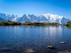 Vue sur la Chaine du Mont-Blanc depuis le Lac des Chéserys