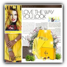 """Golden yellow"" by justelida on Polyvore"