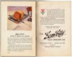Gem City Ice Cream – 'Dayton's Daintiest Dish' Brochure (c.1928)  @frances_quinn…