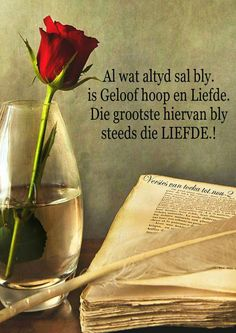 Al wat altyd sal bly, is geloof, hoop en liefde. Inspirational Thoughts, Positive Thoughts, Positive Quotes, Scripture Quotes, Bible Verses, Russian Language Learning, Afrikaanse Quotes, Proverbs Quotes, Meaning Of Love