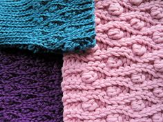 How to crochet the Ribbonberry stitch pattern, by Sue Perez ::  Based on back loop Slip Stitch crochet, a super-easy 4-row repeat creates this beautifully textured fabric with stretchy ribbing at each edge.  Ribbing can be as wide or narrow as you like, and add any amount of pattern motifs in between.