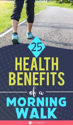 A morning walk helps reduce weight, hypertension, risk of diabetes, and makes the skin glow. Read on to know the benefits of morning walk. Health Benefits Of Walking, Walking For Health, Health Benefits Of Ginger, Benefits Of Running, Fitness Nutrition, Health And Nutrition, Health And Wellness, Health Walk, Body Fitness