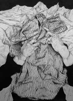 "Saatchi Art Artist Brian K Simpson; Drawing, ""Facing No. 1"" #art"