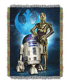 Look at this Star Wars Droid Blues Tapestry Throw on #zulily today!