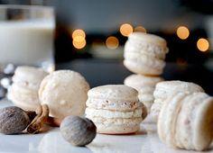 carlyklock: egg nog macarons + cookie swap