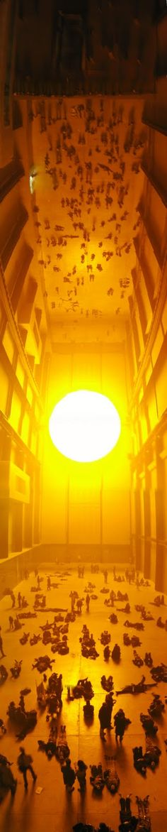 olafur eliassons the weather project is an excellent example of