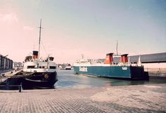 The Rise and Fall of Sealink Ferries by Ferry Crossings Sealink's Ulidia, Govan Docks in the 1980s
