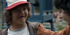 This scene was so cute.  Like Mike is on the verge of tears right and then Dustin steps in and makes him laugh and augh I just have so many feelings for these boys