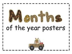 Jungle Months of the Year Posters