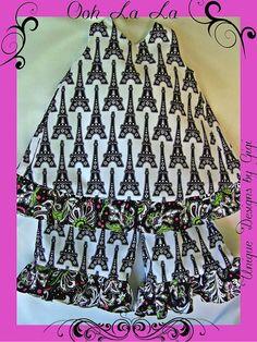 Girls capri set Ooh La La Paris by UniqueDesignsbyGigi on Etsy, $34.99