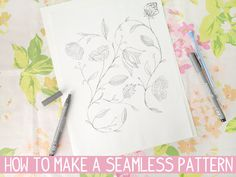 How to make a seamless pattern // photoshop is used here, but there is a computer-free tut linked for those without software