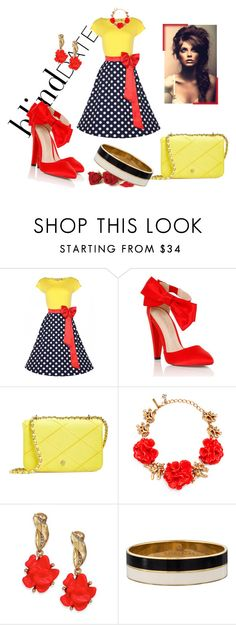 """""""45j58l"""" by theglue on Polyvore featuring Lipsy, Tory Burch, Oscar de la Renta, Kate Spade, women's clothing, women, female, woman, misses and juniors"""