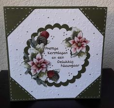 Christmas Centerpieces, Poinsettia, Stamping, Origami, Birthday, Cards, Paper, Xmas Cards, Christmas Table Centrepieces