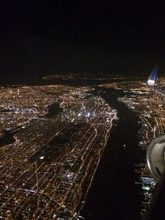 Cold winter night over New York