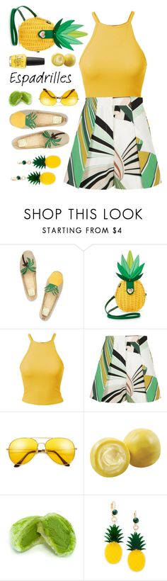"""""""espadrilles"""" by countrycousin ❤ liked on Polyvore featuring Tory Burch, Betsey Johnson, Emilio Pucci, Parlor, Celebrate Shop and OPI"""