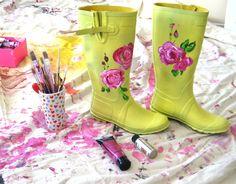 bottes peintes