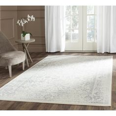Living room rug. Safavieh Adirondack Ivory/ Silver Rug (10' x 14') | Overstock.com Shopping - The Best Deals on 7x9 - 10x14 Rugs